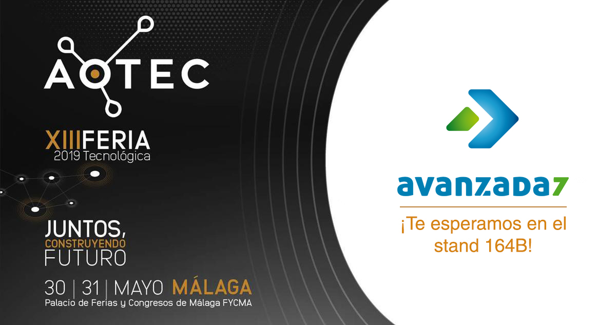 Imagen: We will be in AOTEC! | May 30th - 31th in Malaga