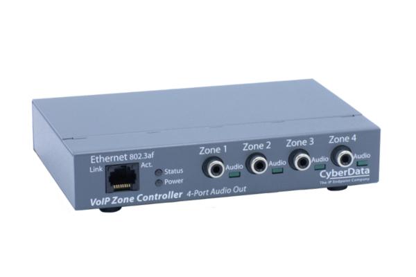 Imagen 1: Cyberdata VoIP zone controller 4 puertos V3
