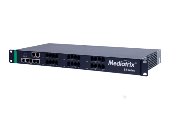 Gateway Mediatrix S7 with 24 FXS ports and T.38 voice quality already available in the online store of Avanzada 7