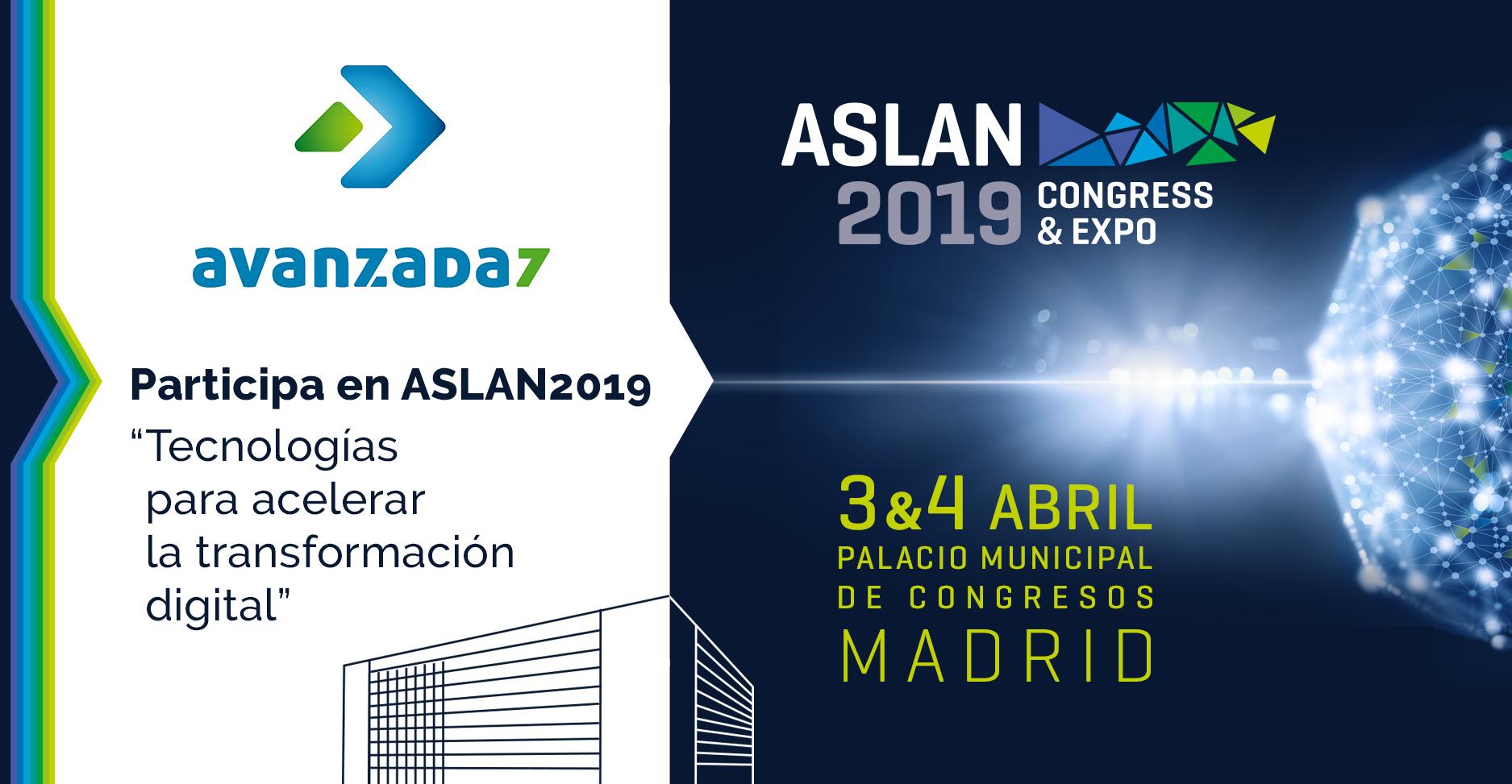 Imagen: ¡Nos vemos en ASLAN!: 03 y 04 de Abril - Madrid