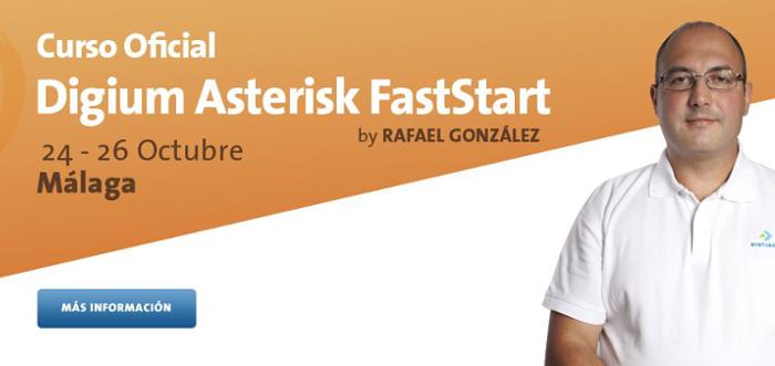 Imagen: Curso Asterisk FastStart Digium | 24 - 26 octubre en Málaga