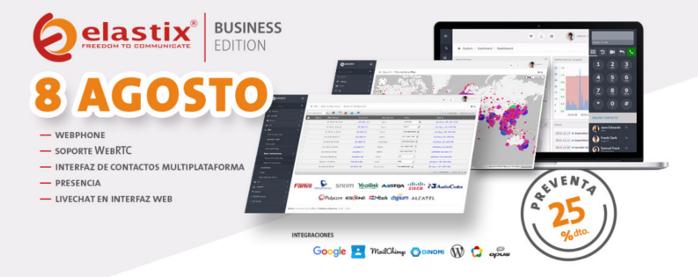 Imagen: Nuevo Elastix Business Edition | Disponible el 08 de agosto