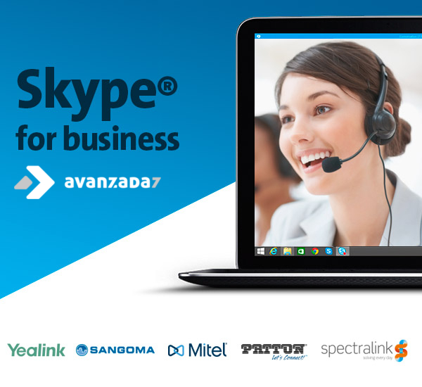 Marcas certificadas Skype for Business que distribuye Avanzada 7