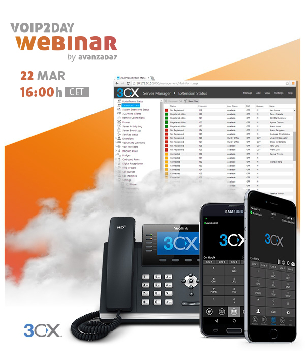 VoIP2DAY Webinar Evolución de Elastix a 3CX - Avanzada 7