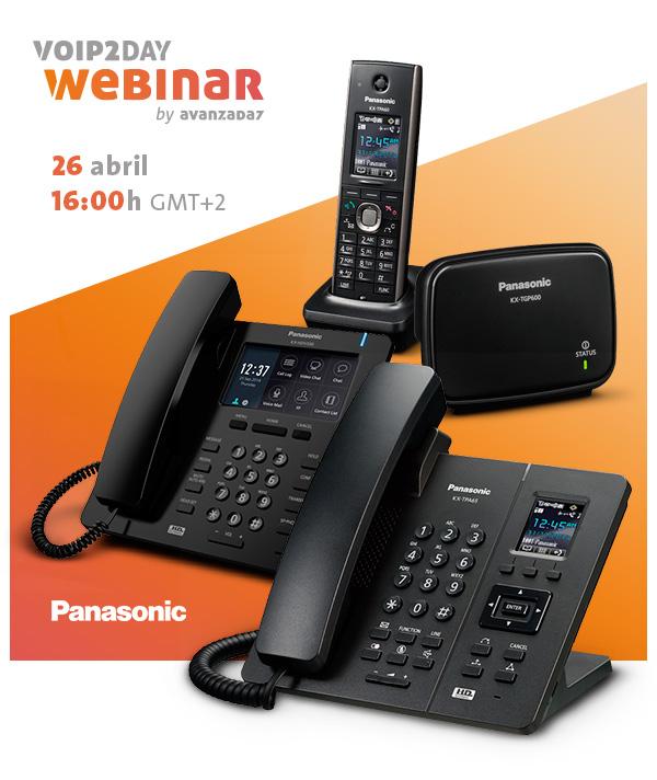 Imagen: VoIP2DAY Webinar Panasonic | Martes 26 de abril