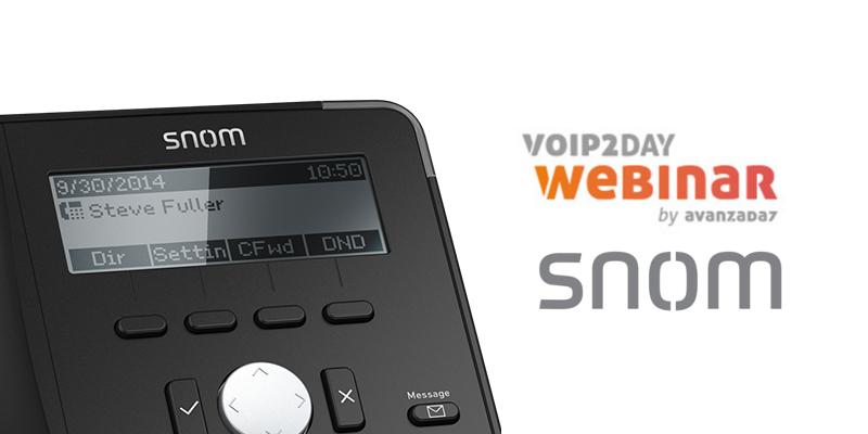Imagen: Webinar Snom - 15 FEB a las 16:00 (CET)