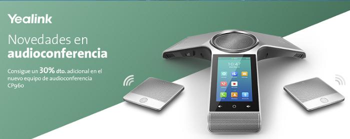 Imagen: Nuevo equipo de Audioconferencia Yealink CP960