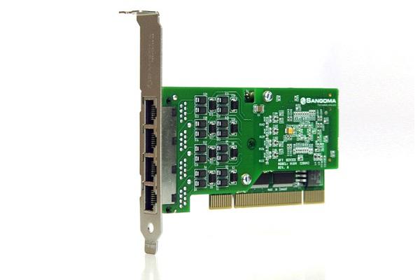 Imagen 1: Tarjeta Sangoma A104 (4E1 PCI)