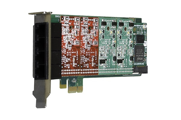Tarjeta Digium A4B analogica con PCI express