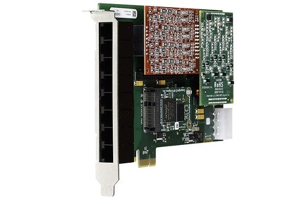Tarjeta analogica de Digium A8B con puertos FXS y FXO