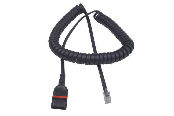 Imagen 1: Cable rizado ADDCOM QD a RJ-9 (rojo)