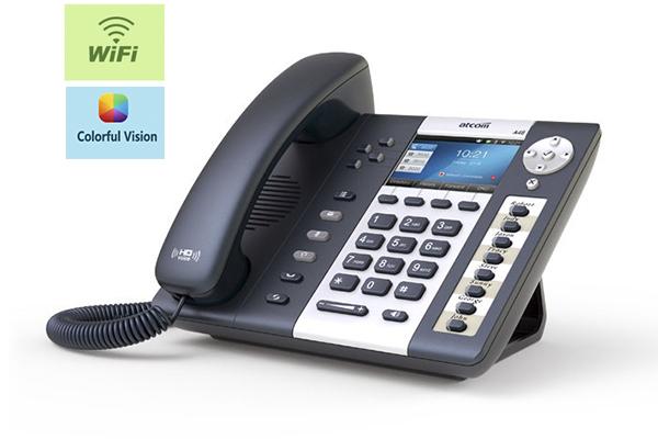 Teléfono IP ATCOM A48W con 4 cuentas SIP y PoE