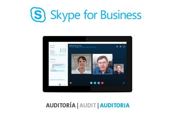 Imagen 1: Servicio de Auditoría Skype for Business