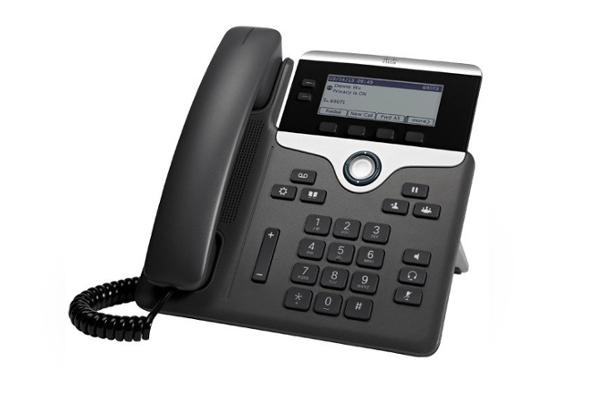 Teléfono IP de sobremesa Cisco 7821 con 2 líneas y pie regulable ideal para pequeñas y medianas empresas