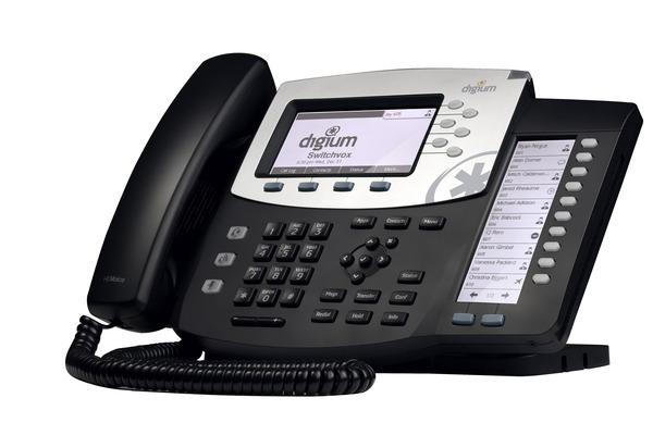 Telefono VoIP de Digium D70 con sonido HD y 6 lineas con rapid dial