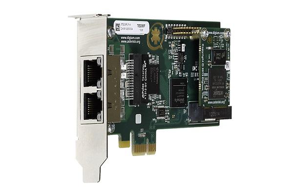 Tarjeta Digium TE235 con 2 puertos PRI E1 y PCI Express - low profile