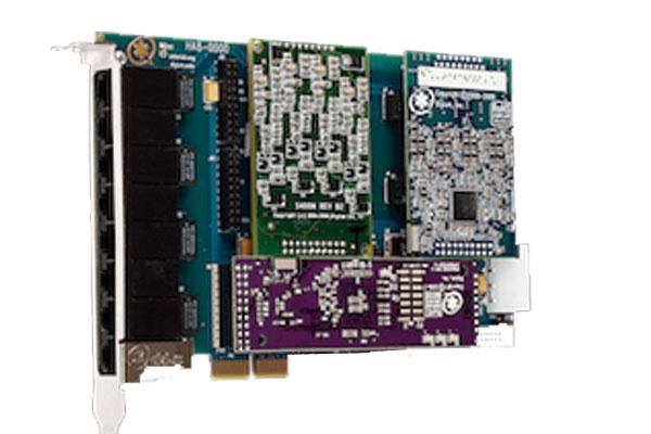 Tarjeta Digium HB8 hibrida con PCI Express