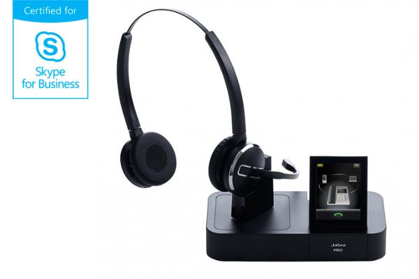 Jabra Pro 9465 duo sem fio compatível com o Skype for Business agora disponível em Advanced 7