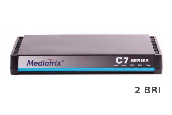 Gateway Mediatrix C720 con dos puertos BRI y 2 puertos RJ45 ya disponible en la tienda online de Avanzada 7