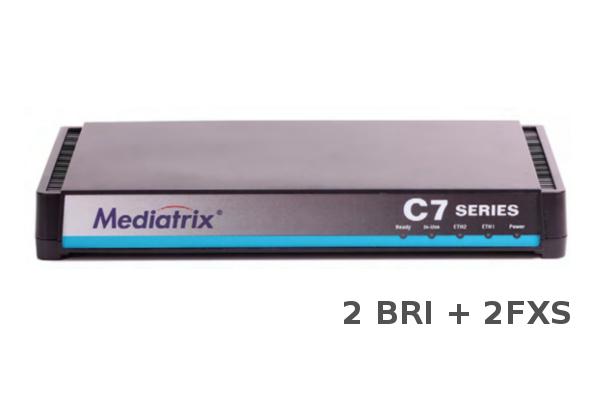 Gateway Mediatrix C725 con 2BRI + 2FXS y 2 puertos RJ45 ya disponible en la tienda online de Avanzada 7