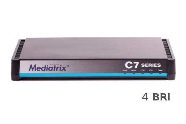 Gateway Mediatrix C740 con 4 BRI y 2 puertos RJ45 ya disponible en la tienda online de Avanzada 7