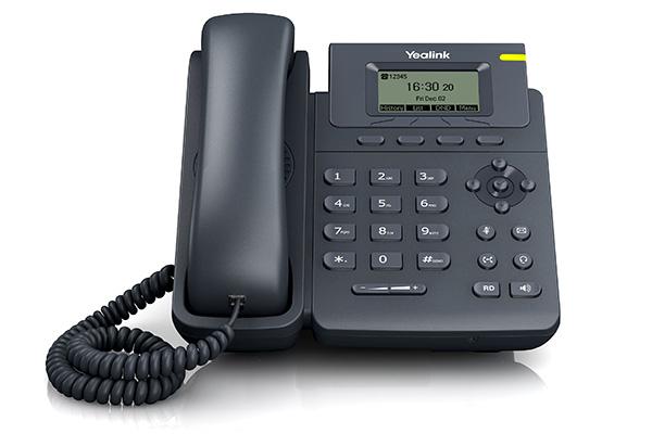 Teléfono VoIP de Yealink con pantalla de 132 x 64 pixeles