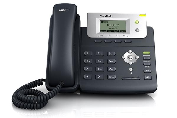 Teléfono Yealink T21 de gama básico con pantalla LCD
