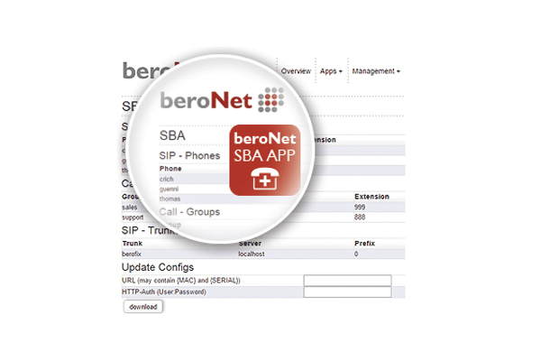 Imagen 1: Beronet Survival Branch Appliance (App)