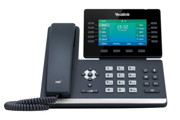 Teléfono IP de sobremesa Yealink T54W con pantalla a color LCD de 4.3'' ajustable según el ángulo de visión necesario