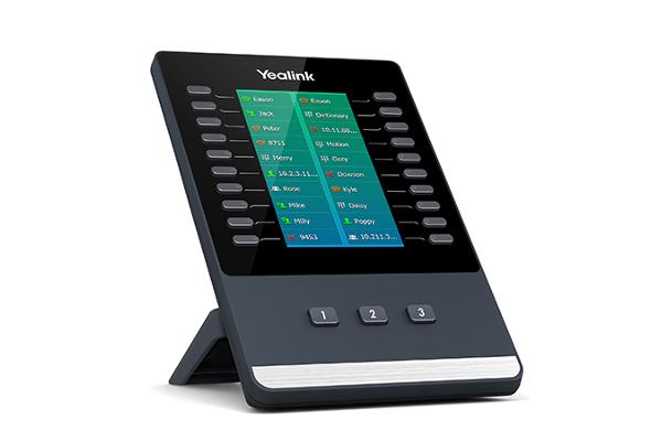 Módulo de expansión de Yealink EXP50 con pantalla a color y 20 teclas físicas con LEDs dual color