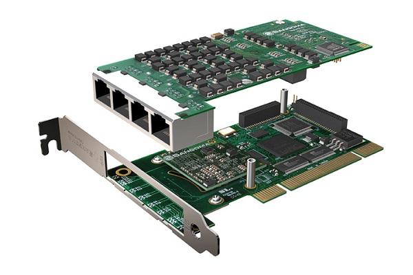 Imagen 2: Tarjeta Sangoma A108D (8E1 PCI Echo Cancel)