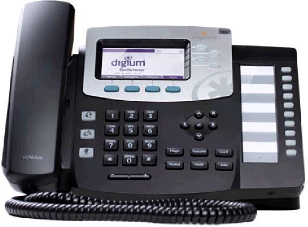 Telefono VoIP de Digium D50 con PoE y conector de cascos Rj9