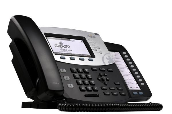 Telefono VoIP de Digium D70 con 10 teclas de funcion y 4 programables