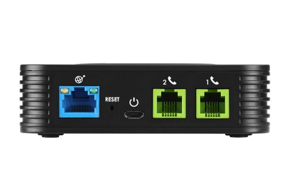 Gateway Grandstream ATA HT802 con 1 puerto Ethernet