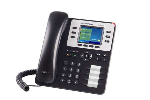 Teléfono IP Grandstream de categoría empresarial con PoE y teclas programables