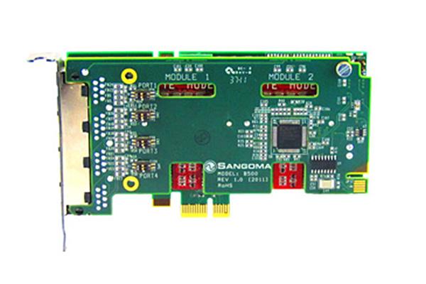 Imagen 2: Tarjeta Sangoma B501E (2 BRI - PCIe)