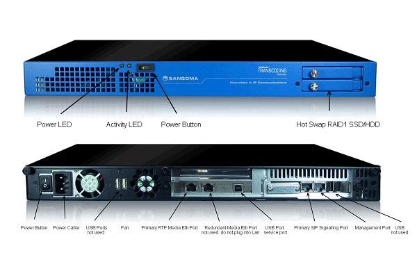 Imagen 2: Gateway SS7 Sangoma 8 E1 con transcoding (1U)
