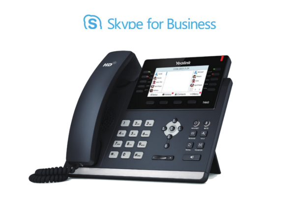 Teléfono de sobremesa Yealink T46G con pantalla a color y compatible con Skype for Business