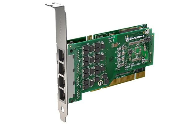 Imagen 3: Tarjeta Sangoma A104 (4E1 PCI)