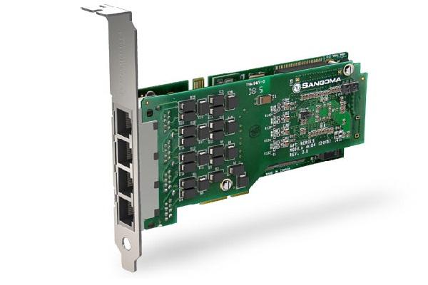 Imagen 3: Tarjeta Sangoma A104DE (4E1 PCI Express Echo Cancel)