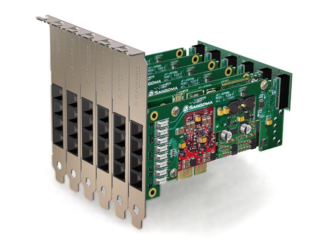 Imagen 3: Tarjeta Sangoma A200 Base+rémora PCIe + E.C. (A200DE)