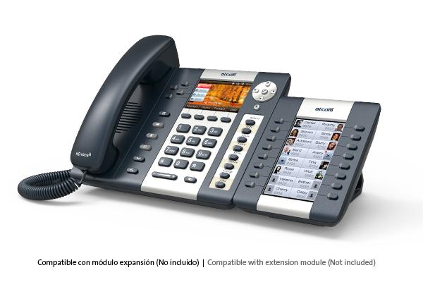 Teléfono IP ATCOM A48W con Wifi y cuatro cuentas SIP y pantalla a color