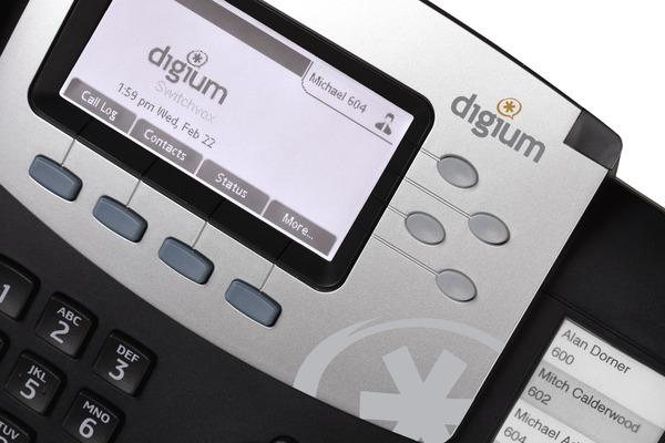 Telefono VoIP de Digium D50 con manos libres y 2 puertos RJ45