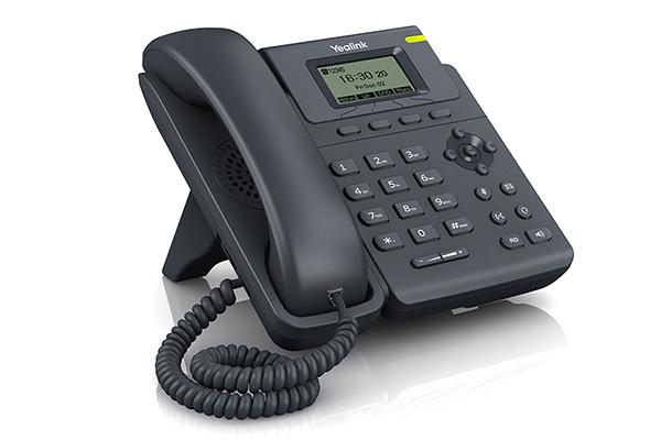 Teléfono VoIP de Yealink fabricado con red dual 10/100 mbps de puertos integrados con PoE