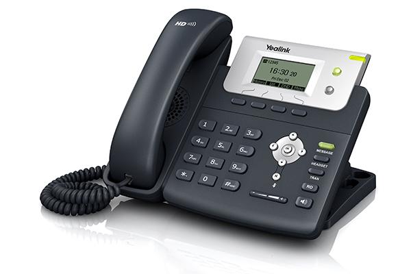 Teléfono Yealink T21 con pantalla de 132x64 pixeles