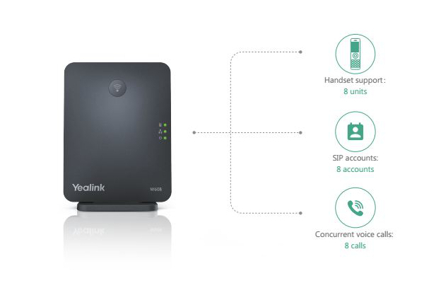 Estación base Yealink W60B apareable con soporte para códec OPUS ofreciendo mayor calidad de sonido ya disponible en Avanzada 7