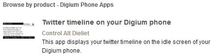 twiter-on-digium-phone