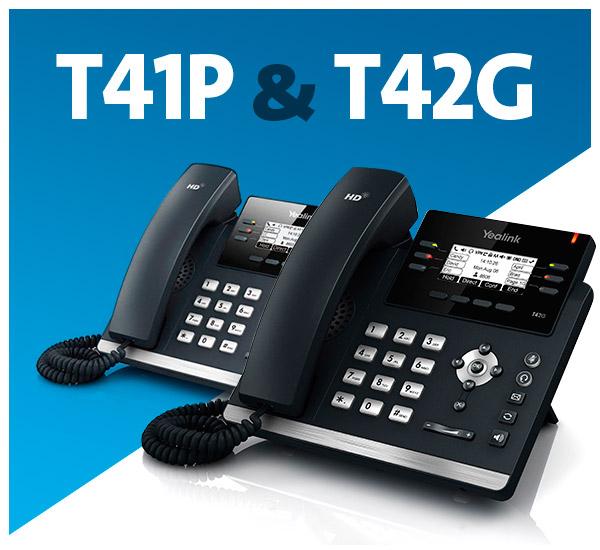 Teléfonos VoIP Yealink - T41P y T42G