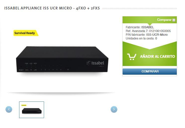 Ficha web Issabel appliance ISS UCR Micro - Avanzada 7