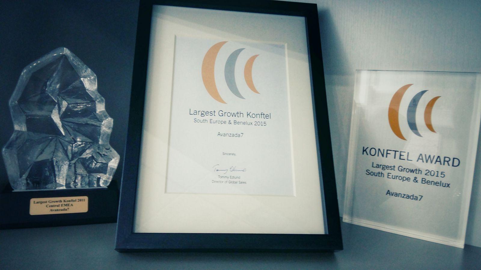 Premio Largest Growth Konftel - Avanzada 7
